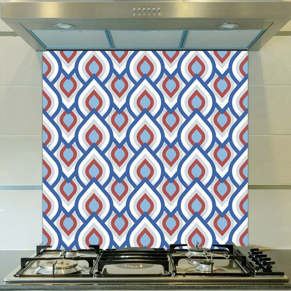Image of Iver pattern design as a printed glass splashback from forthefloorandmore.com