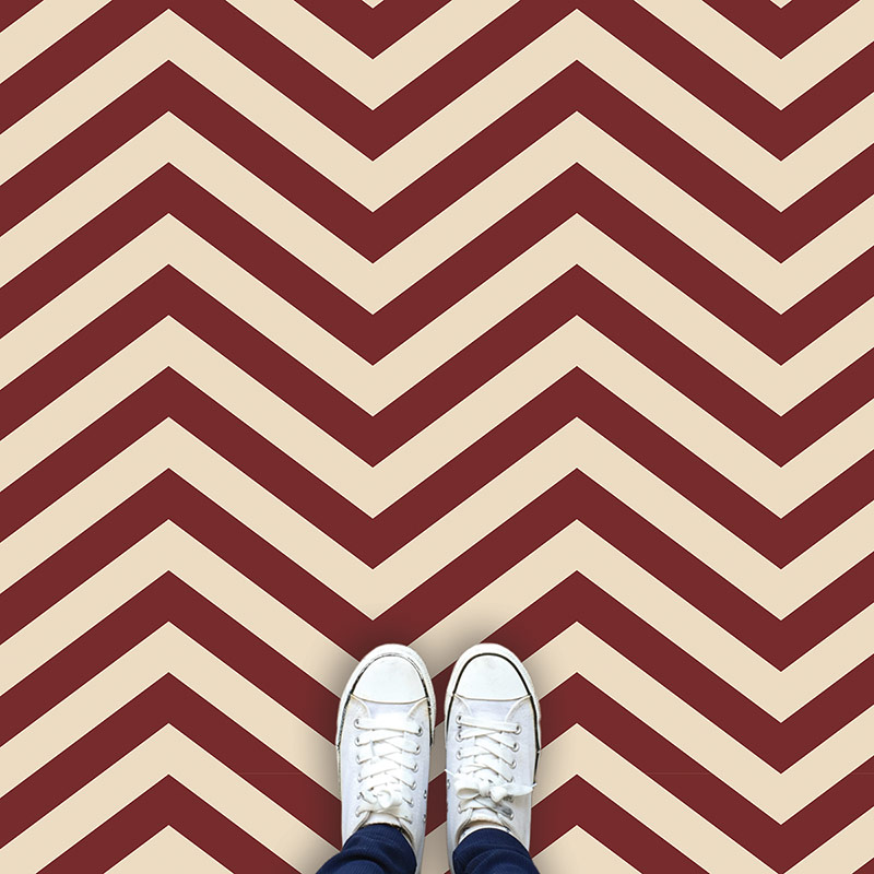 Image of Cooper chevron design available as a colourful and vibrant made to measure wallpaper mural from forthefloorandmore.com