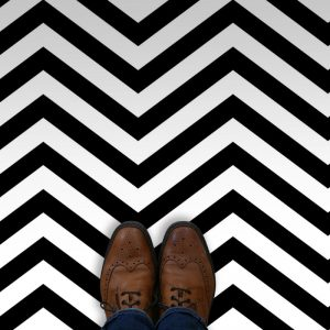 Image showing variations on Cooper Twin Peaks inspired vinyl flooring from forthefloorandmore.com
