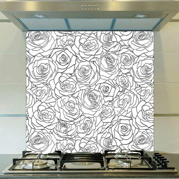 Image of Eline pattern design as a printed glass splashback from forthefloorandmore.com
