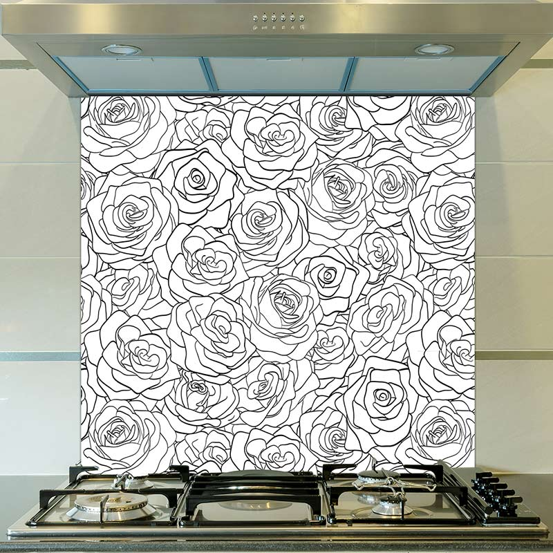 Image of Eline pattern design as a printed glass splashback from forthefloorandmore.com