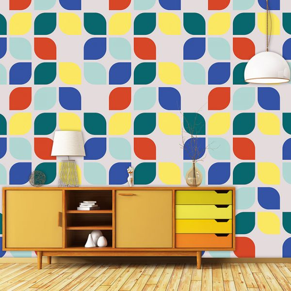 Image of Kaskad design available as a colourful and vibrant made to measure wallpaper mural from forthefloorandmore.com