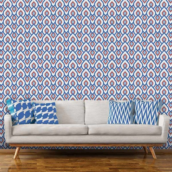 Image of Iver design available as a colourful and vibrant made to measure wallpaper mural from forthefloorandmore.com