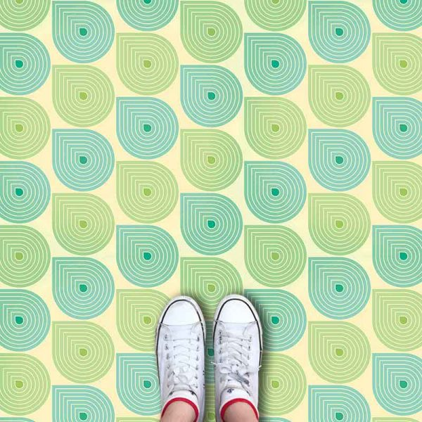 Sommer pattern printed geometric flooring exclusively from forthefloorandmore.com