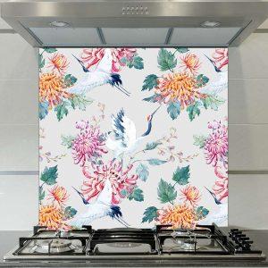 Image of Emiko oriental patterned glass splashback available from forthefloorandmore.com