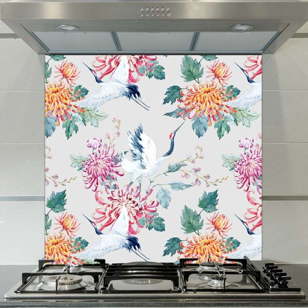 Image of Emiko oriental patterned glass splashback available from forthefloorandmore.com