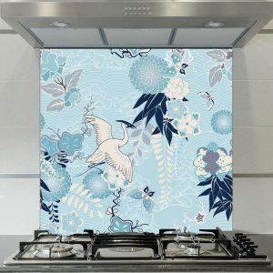 Image of Momo oriental patterned glass splashback available from forthefloorandmore.com