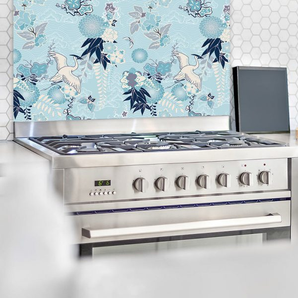 Image of Momo design as a wonderfully detailed printed glass splashback available from forthefloorandmore.com