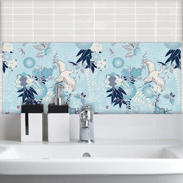 Image of Momo design as a wonderfully detailed art tile available from forthefloorandmore.com