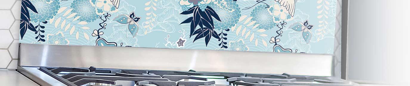 Image of Momo exclusive glass splashback from forthefloorandmore.com