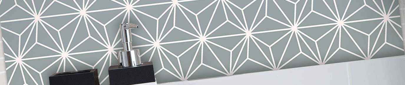 Image of Austaar exclusive design printed glass Feature Tile from forthefloorandmore.com