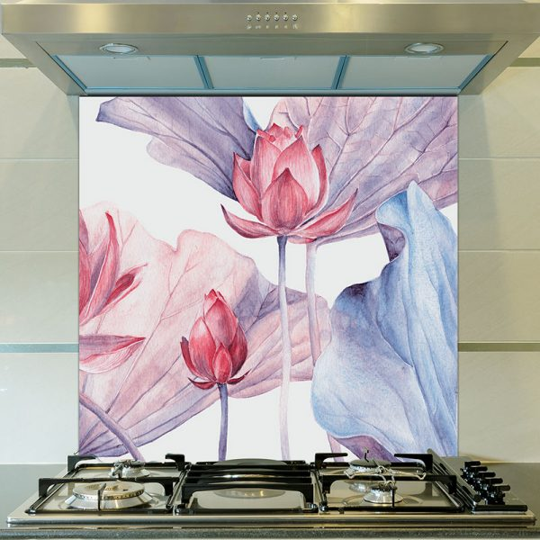 Image of Abilene design as a floral glass splashback designed to add colour and focus to your home.