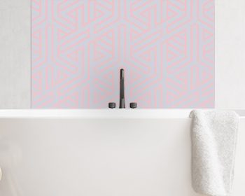 Image of Bathroom splashback panel geometric ombre from forthefloorandmore.com