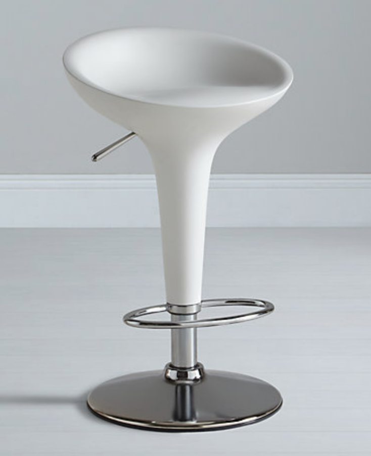 Image of a White Magis Bombo Bar Stool from John Lewis used in a blog post by For the Floor and More
