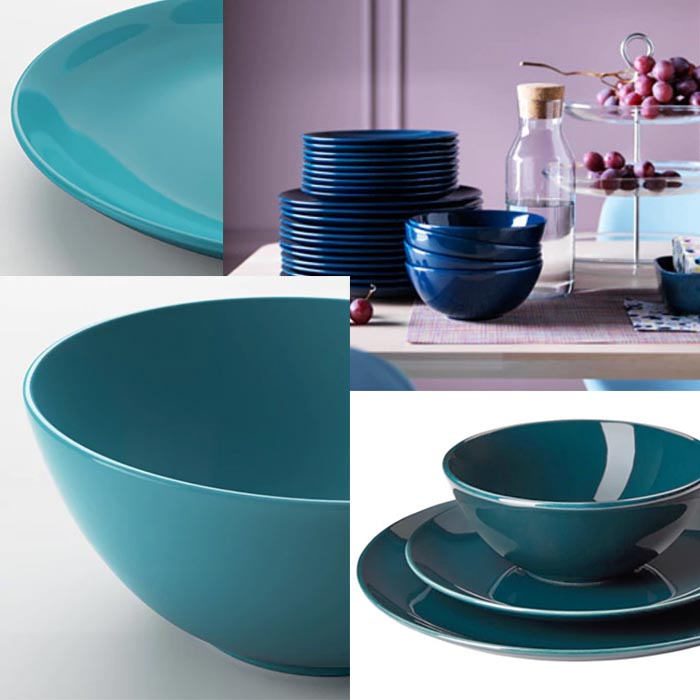 Image of the Ikea FÄRGRIK Dinnerware set used in a blogpost by forthefloorandmore.com