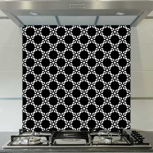 Image of Antlia black & bold geometric design. Wonderful geometric glass patterned design from forthefloorandmore.com