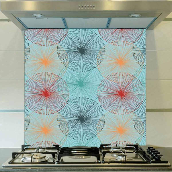 Image of Nerine design as a floral glass splashback designed to add colour and focus to your home.