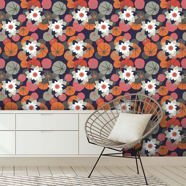 Image of Chloe design as a wonderfully detailed bespoke art wallpaper available from forthefloorandmore.com