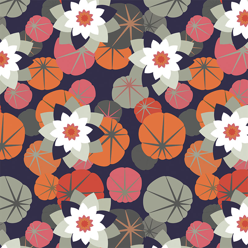 Image of Chloe large scale floral design by Rose Quartz and available through For the Floor and More