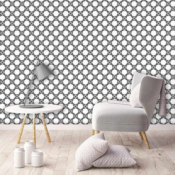 Antlia black bold geometric design. Wonderful geometric feature wallpaper design from forthefloorandmore.com