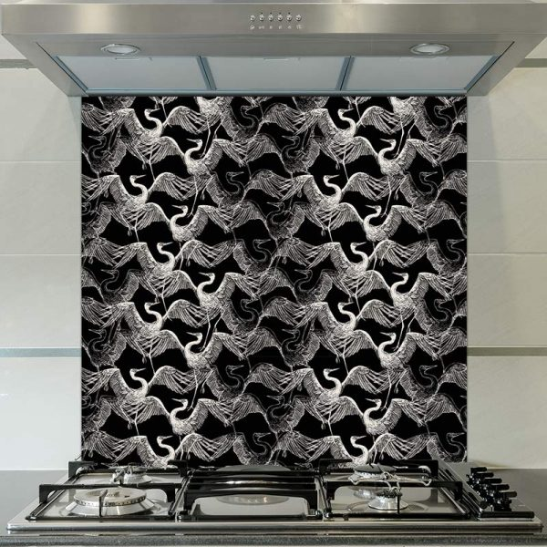 Image of Sachi design as a wonderfully detailed art printed glass splashback available from forthefloorandmore.com