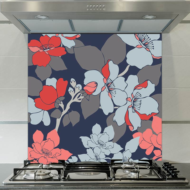 Image of Elsa patterned glass splashback available from forthefloorandmore.com
