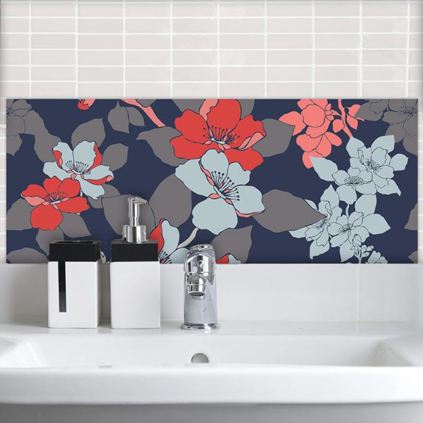 Image of Elsa Feature wall Tile adds reall floral sophistication to your home. Looks stunning on glass!