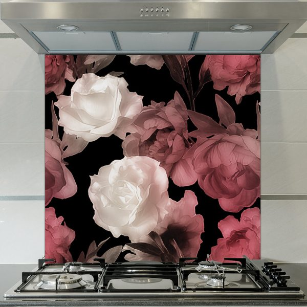 Image of Corinne design as a floral glass splashback designed to add colour and focus to your home.
