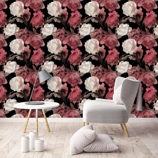 Image of Corinne design as a wonderfully detailed bespoke art wallpaper available from forthefloorandmore.com