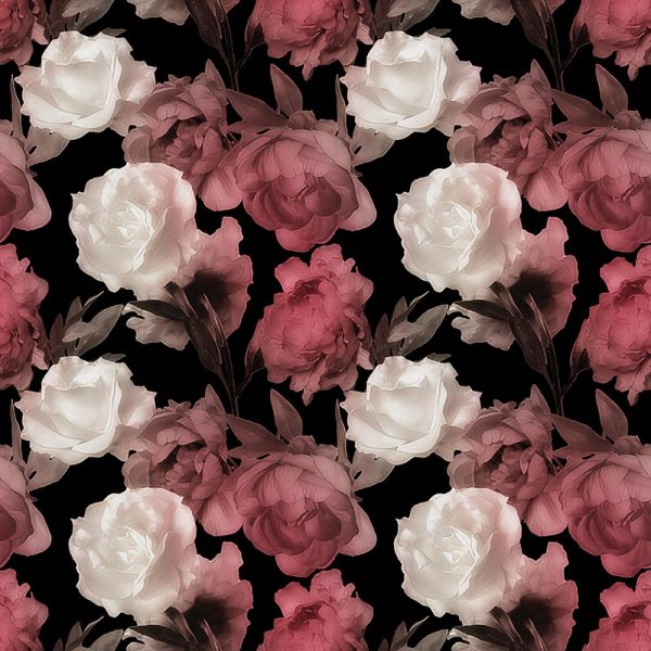 Image of Corinne large scale floral design by Rose Quartz and available through For the Floor and More