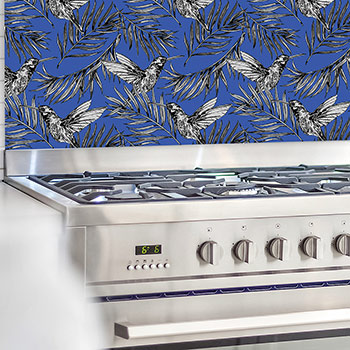 Image of a Chinoiserie style splashbacks from forthefloorandmore.com