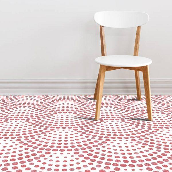 Image of Koto dot pattern vinyl flooring design from forthefloorandmore.com