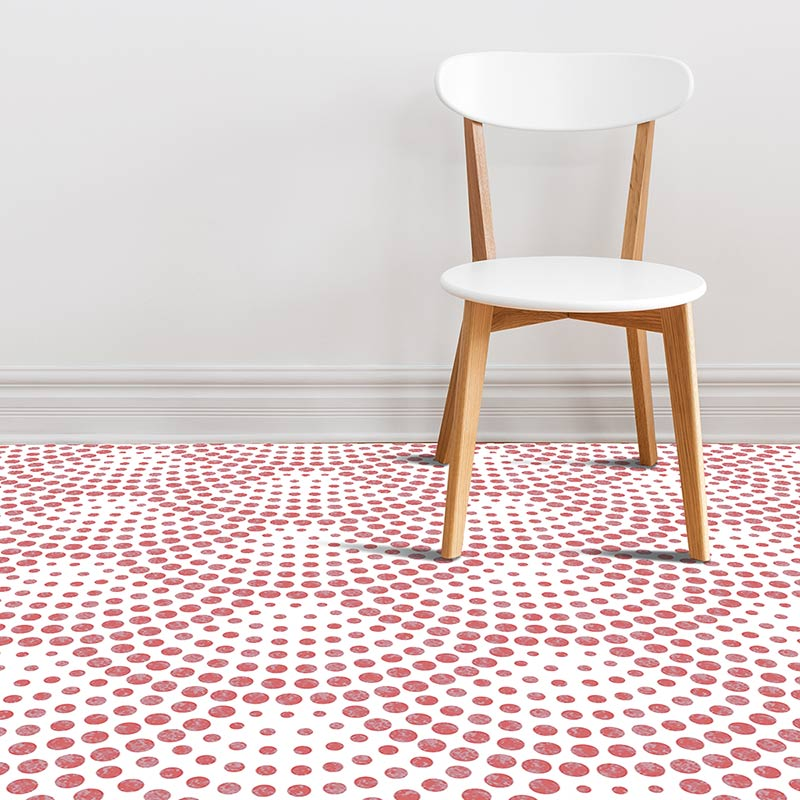 Image of Koto dot pattern modern vinyl flooring design from forthefloorandmore.com