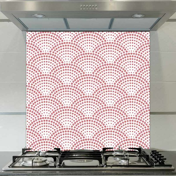 Image of Koto dot printed glass splashback pattern design from forthefloorandmore.com