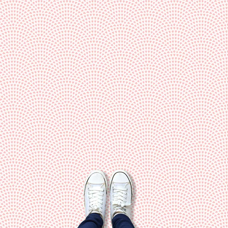 Image of Pokki dot pattern modern vinyl flooring design from forthefloorandmore.com