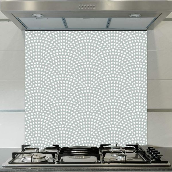 Image of Itsu dot printed glass splashback pattern design from forthefloorandmore.com