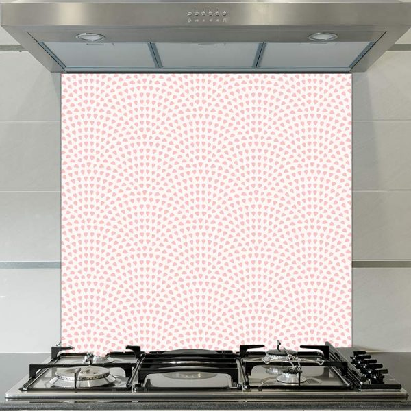 Image of Pokki dot printed glass splashback pattern design from forthefloorandmore.com