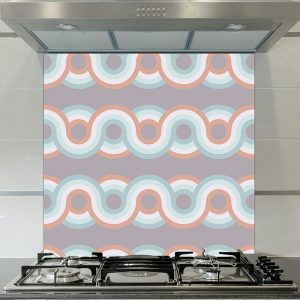 Image of Anata dot printed glass splashback pattern design from forthefloorandmore.com