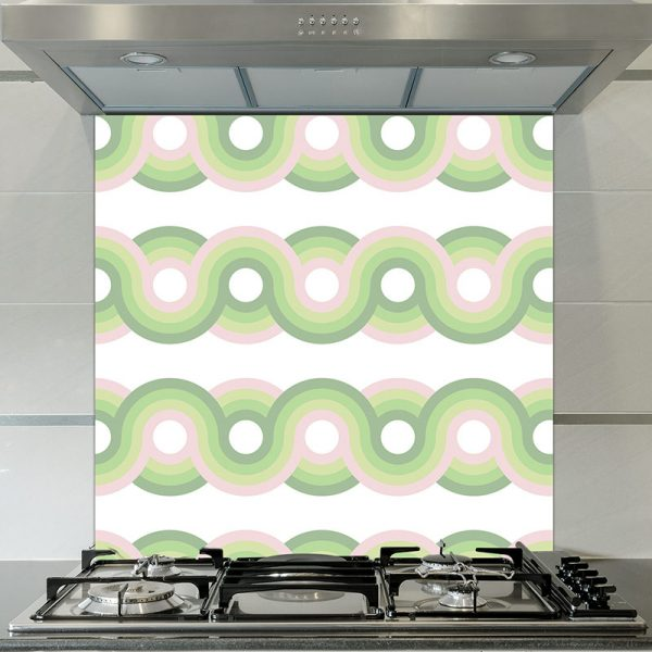 Image of Kawaii dot printed glass splashback pattern design from forthefloorandmore.com