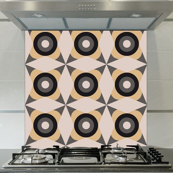 Image of Yume dot printed glass splashback pattern design from forthefloorandmore.com