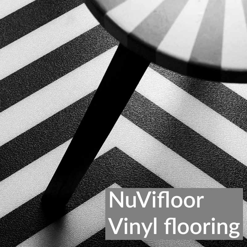 Image of exclusive NuVifloor modern vinyl flooring designs from forthefloorandmore.com