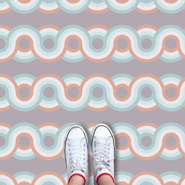 Anata pattern printed geometric flooring exclusively from forthefloorandmore.com