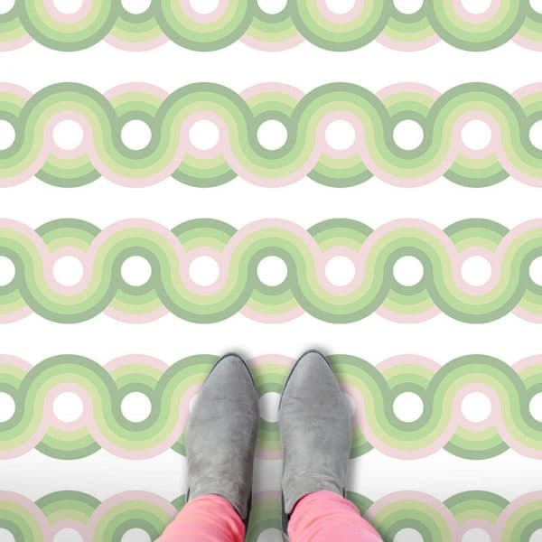 Kawaii pattern printed geometric flooring exclusively from forthefloorandmore.com