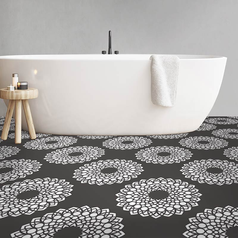 Image of Doki dot pattern modern vinyl flooring design from forthefloorandmore.com