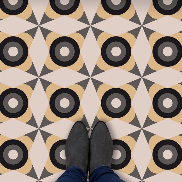 Image of Yume dot pattern vinyl flooring design from forthefloorandmore.com