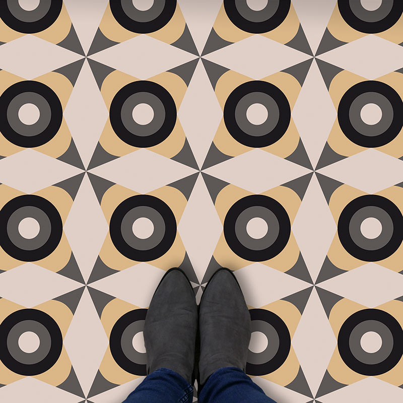 Image of Yume dot pattern modern vinyl flooring design from forthefloorandmore.com