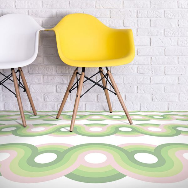 Kawaii dot pattern ultra-modern vinyl flooring pattern from forthefloorandmore.com