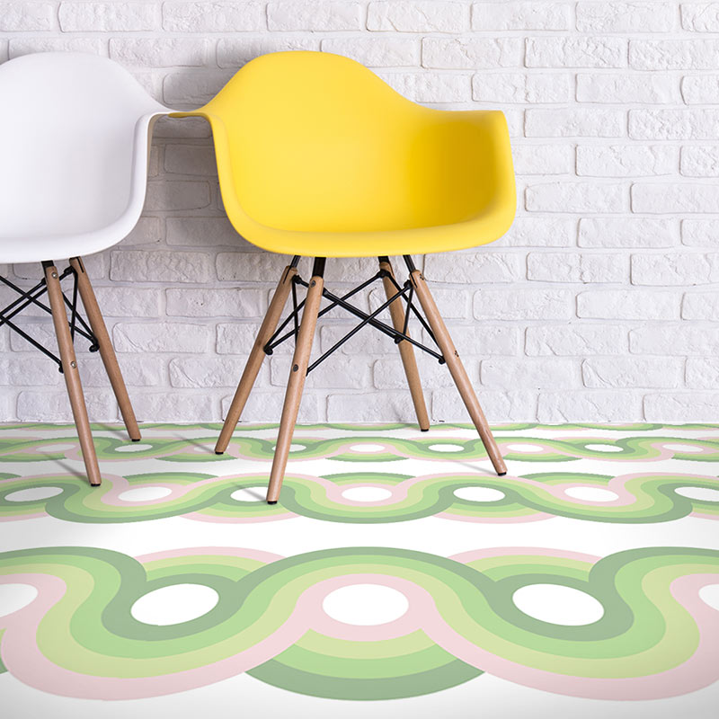 Image of Kawaii dot pattern modern vinyl flooring design from forthefloorandmore.com
