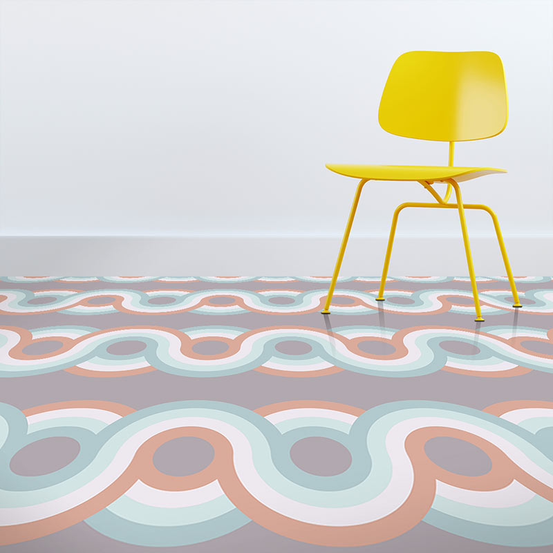Image of Anata dot pattern modern vinyl flooring design from forthefloorandmore.com