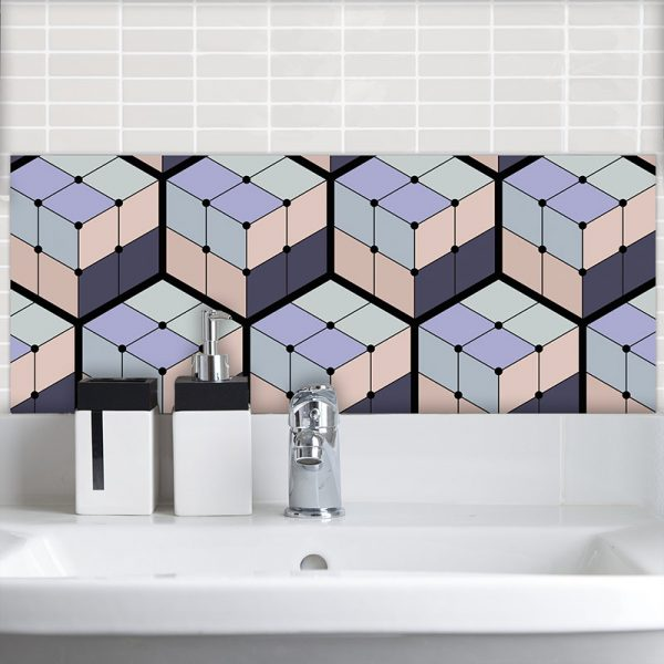 Image of Koko pattern design as a Feature Tile is all about the cubes and the colour from forthefloorandmore.com